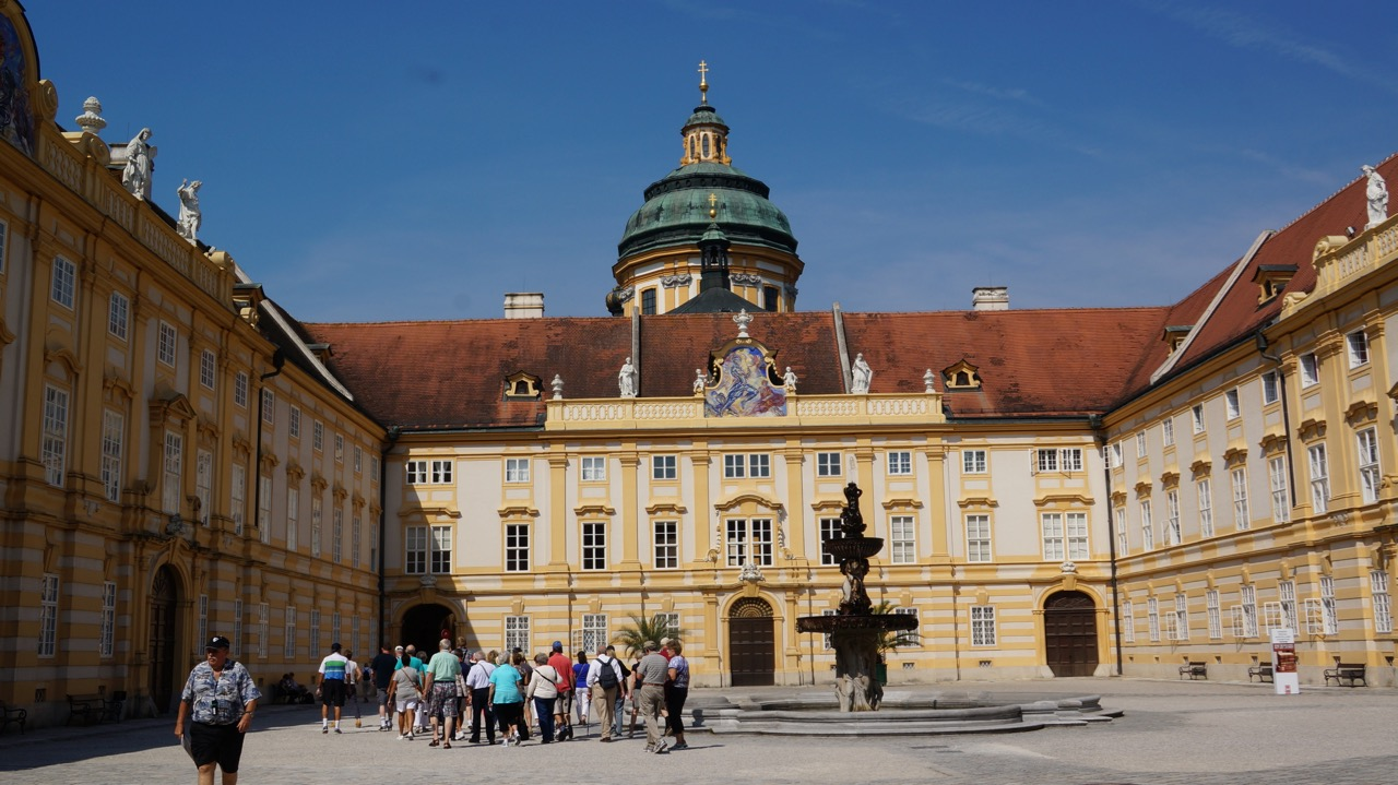 Benedictine monks at the Melk Abbey