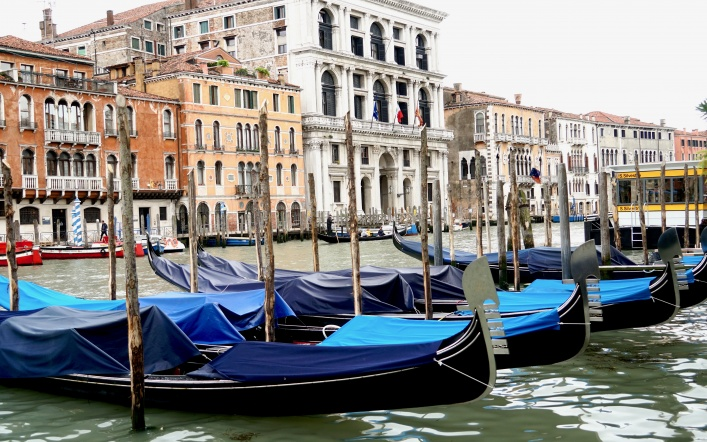 Floating on the Canals in Venice